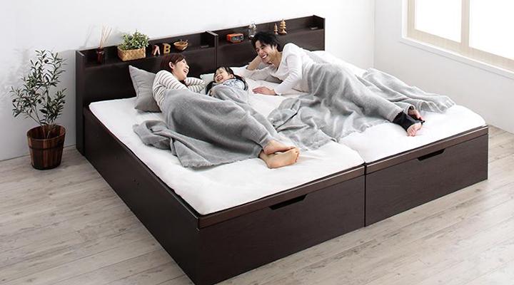 二台を並べれば、ご家族一緒にお休みいただくのにもピッタリです。