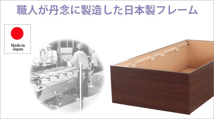 職人が一つ一つ丹念に作り上げた、こだわりの日本製フレーム。