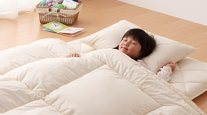 いつも清潔に使えるから、お子様もぐっすり。快適におやすみいただけます。