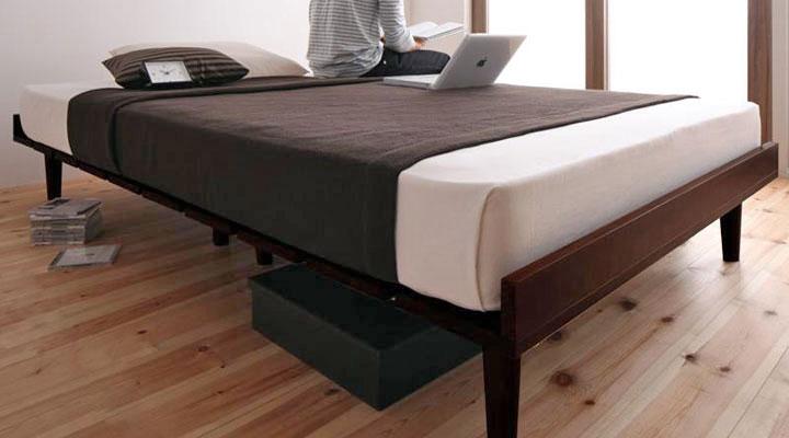 標準タイプ:20cm脚。ベッド下の空間も収納スペースとして有効に使えます。