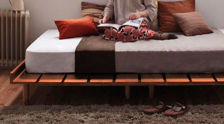 壁際にベッドを置けばディベッドのようにも使えます。
