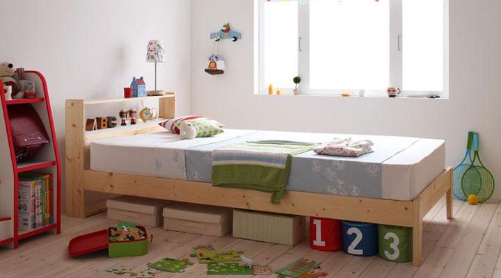 自然な優しい木のぬくもりが子供部屋にもピッタリ合う。飽きのこないデザイン。