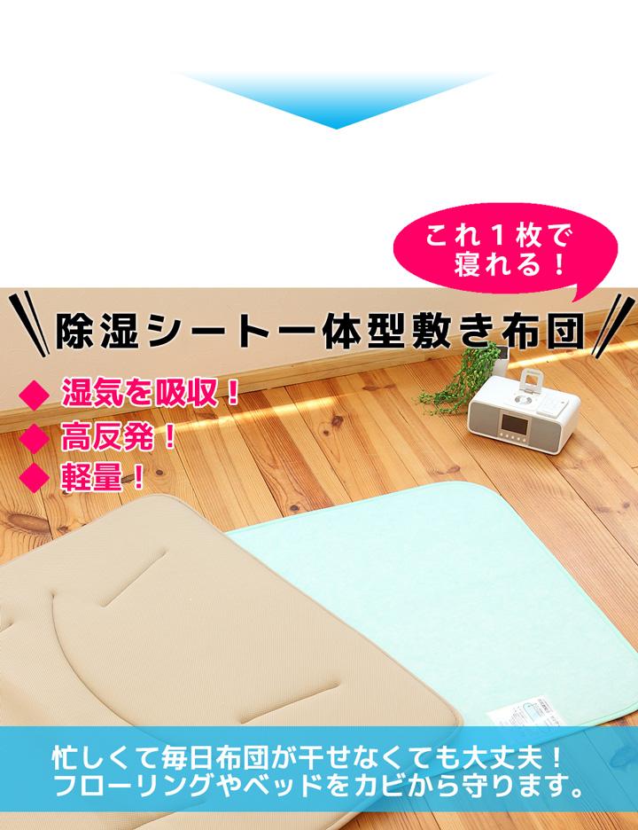 忙しくて毎日布団が干せなくても大丈夫。除湿シート一体型敷き布団
