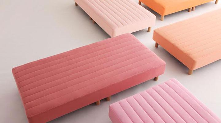 20色から選べるベッド。