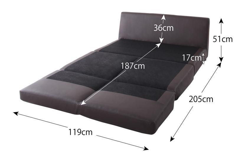 ベッド時サイズセミダブル