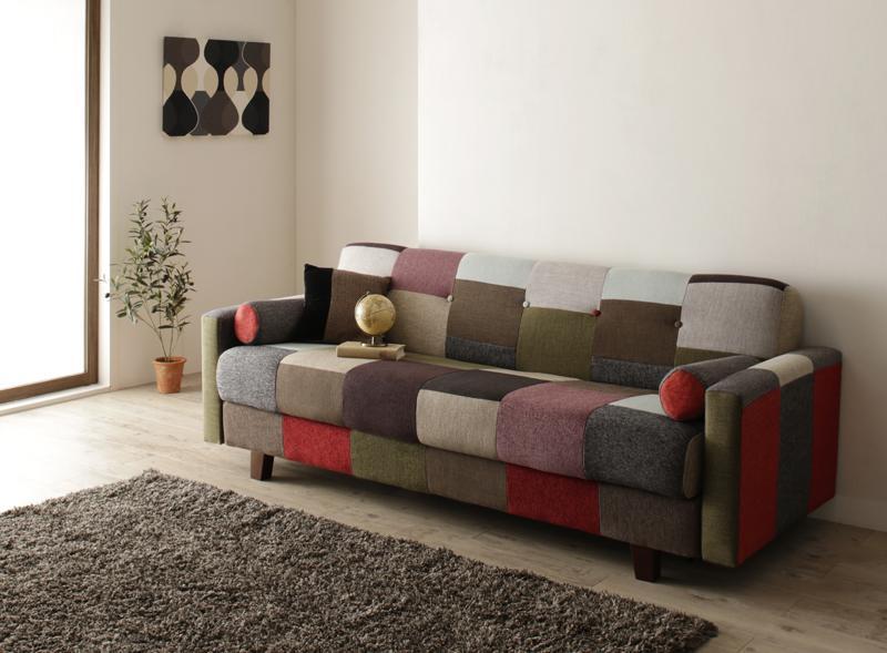 カラフルなソファーベッド