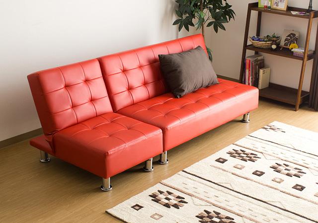 分割式ソファーベッド