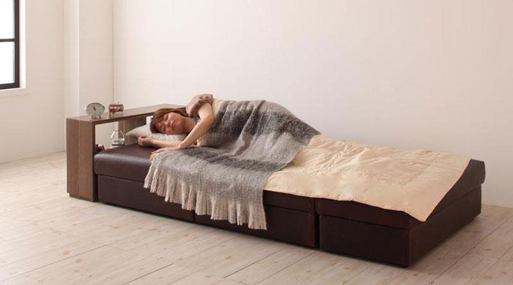 楽々ベッドに切り替え。