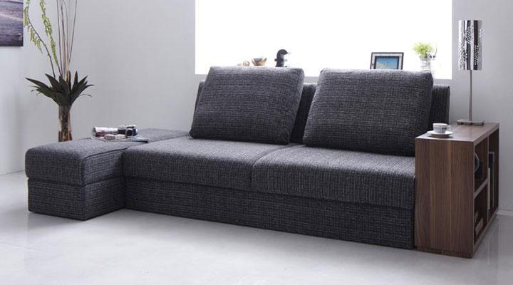 北欧デザインのソファーベッド。