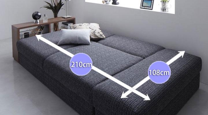 大型ベッド。
