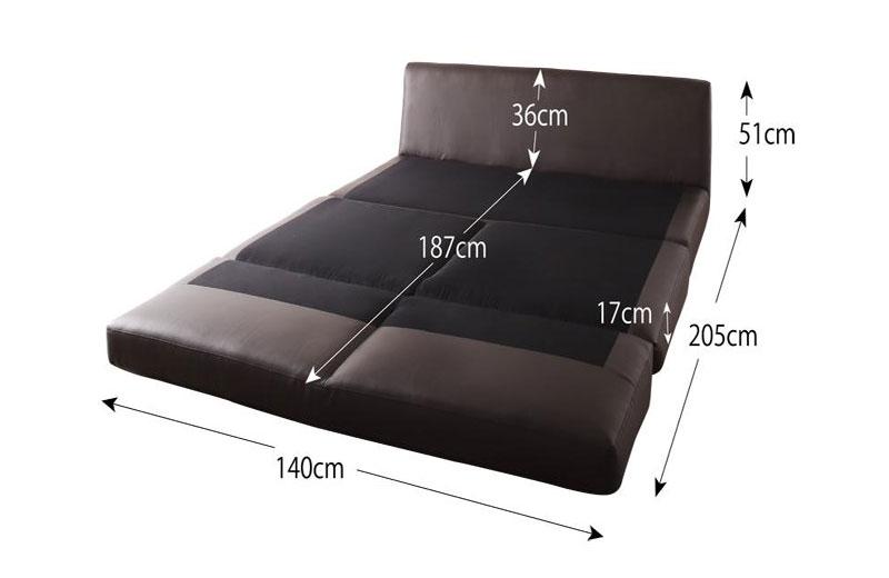 ベッド時サイズダブル
