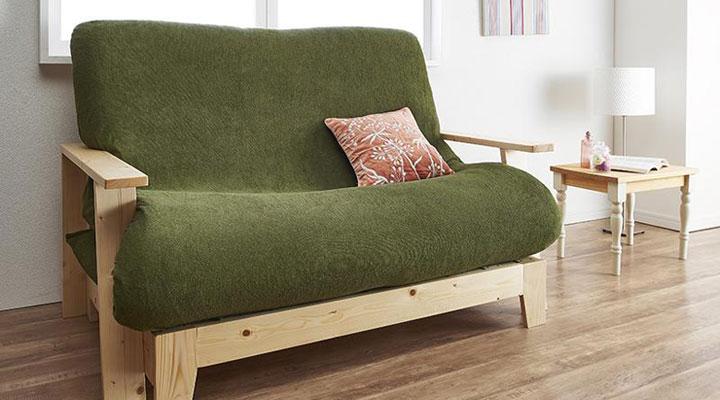 北欧感じるソファーベッド。