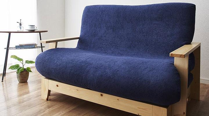 すのこソファーベッド。