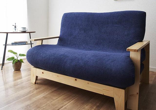 セミダブルサイズの天然木すのこソファーベッド