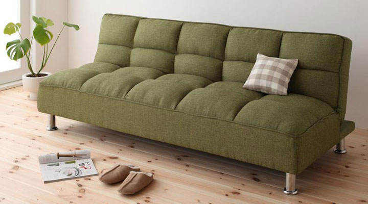 シンプルデザインのソファーベッド。