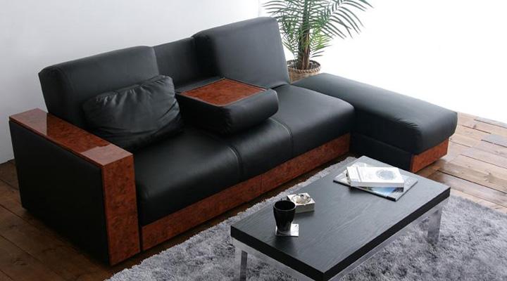 モダンスタイルなソファーベッド。