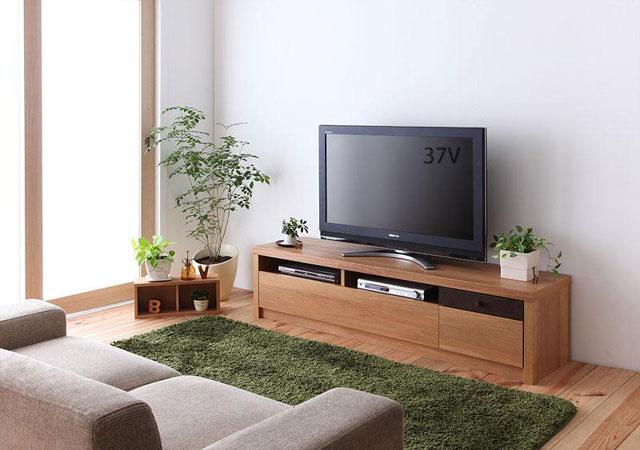 天然オーク材フロアタイプテレビボード【GRANTA(グランタ)】W150