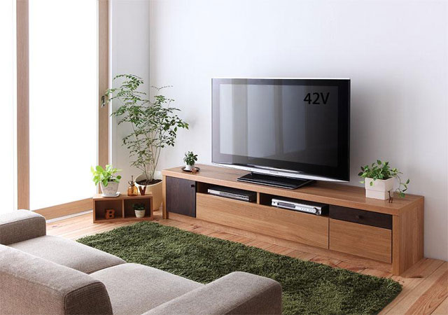 天然オーク材フロアタイプテレビボード【GRANTA(グランタ)】W180