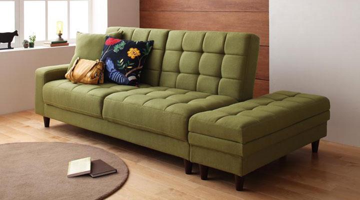 収納付きソファーベッド。