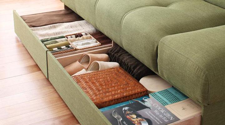 座面下の収納。