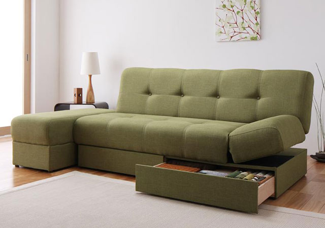 日本製ソファーベッド。