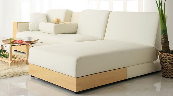 高級感あるソファーベッド。