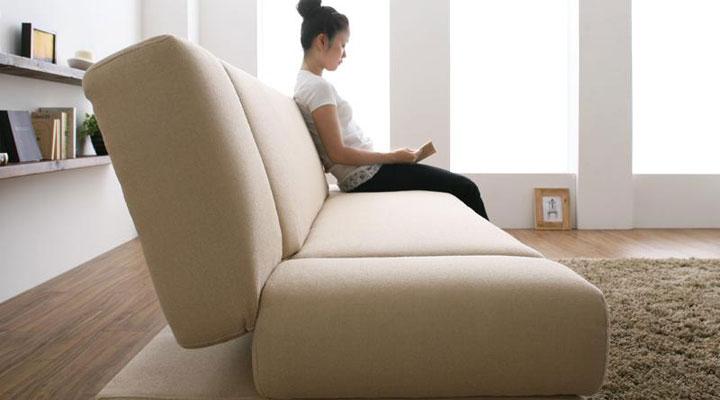 ソファーベッドに見えないデザイン。