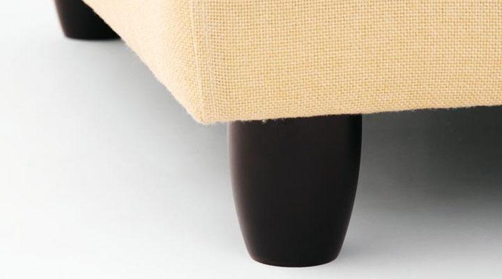 木脚の脚部。