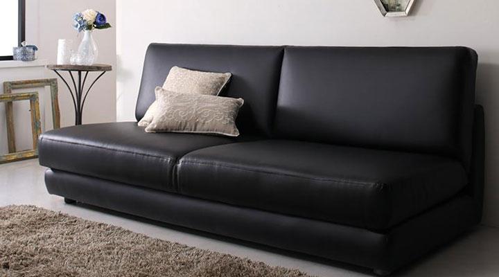 クイーンサイズのソファーベッド。
