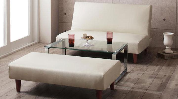 来客用ソファーとして使える。