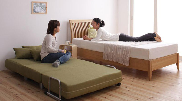 来客用ベッドとして。