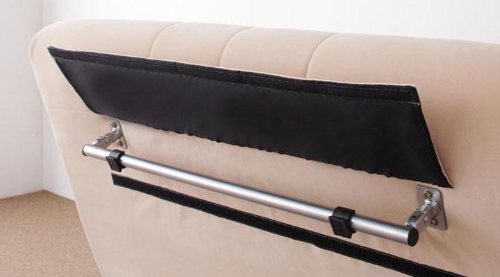 背面にベッド時の脚部収納。