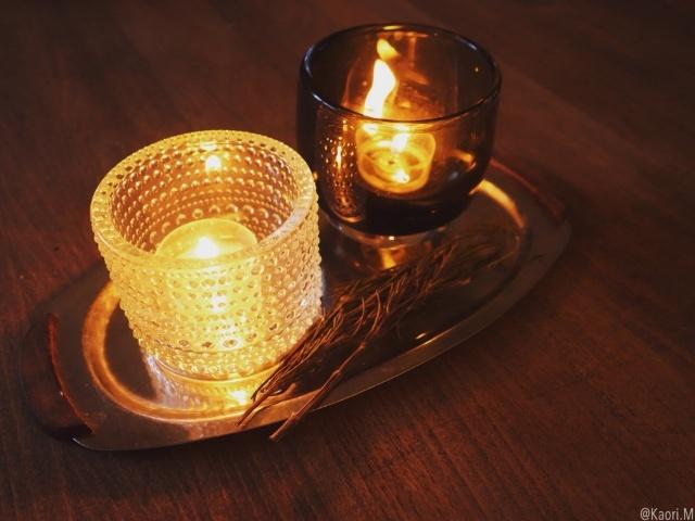 キャンドルホルダーでクリスマスっぽい灯りを取り入れる