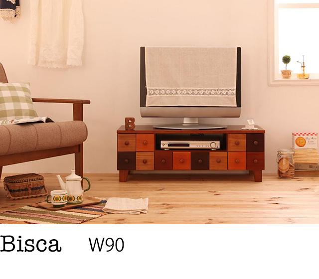 天然木北欧デザインテレビボード【Bisca】ビスカ 幅90